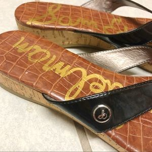 Sam Edelman Shoes - Sam Edelman Tanya platform thong sandal black
